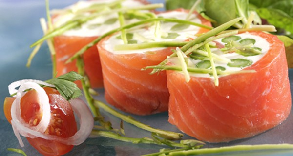 Lachs-Rucola-Rolle